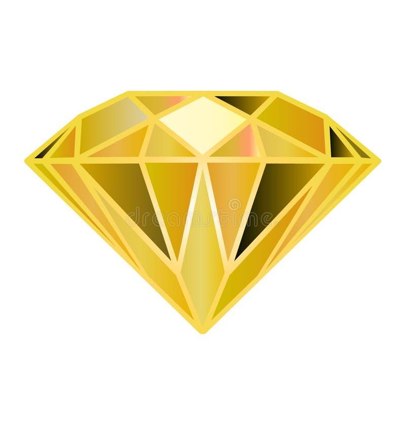 Halfedelsteen, diamant Veelhoekige vectordiamanten stock illustratie