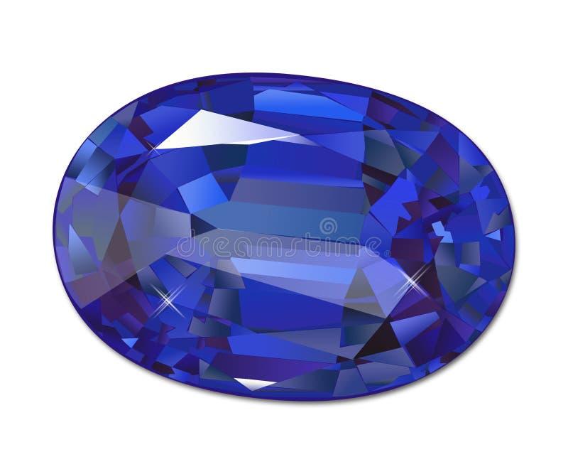 Halfedelsteen, gem, juweel, edelsteen, kostbare gem, kostbaar juweel, stock illustratie