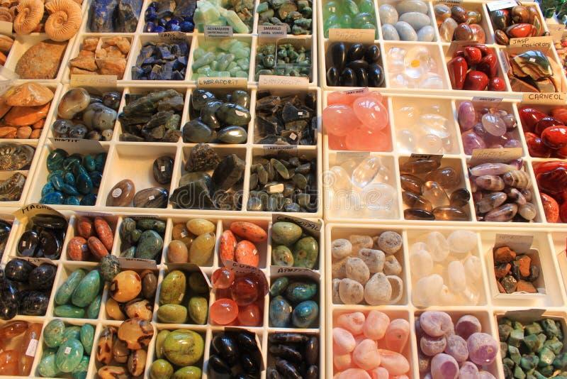 Halfedelstenenjuwelen royalty-vrije stock afbeelding