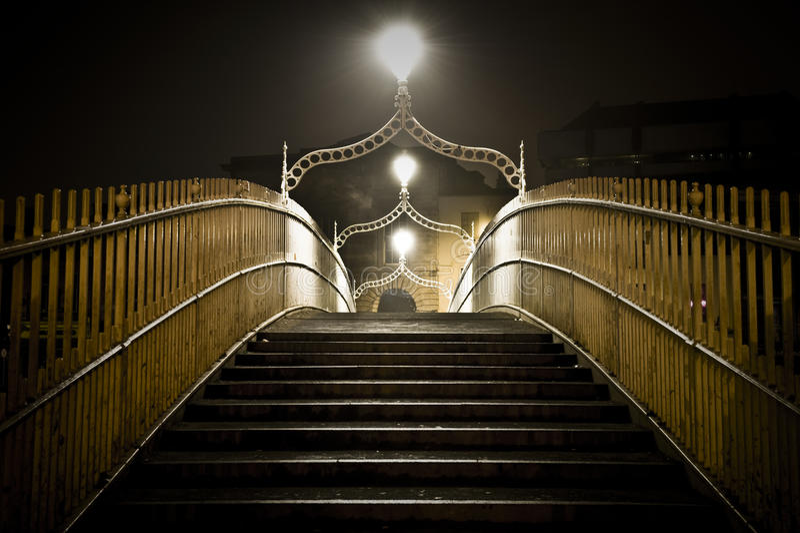 Halfpenny bridge dublin ireland royalty free stock images