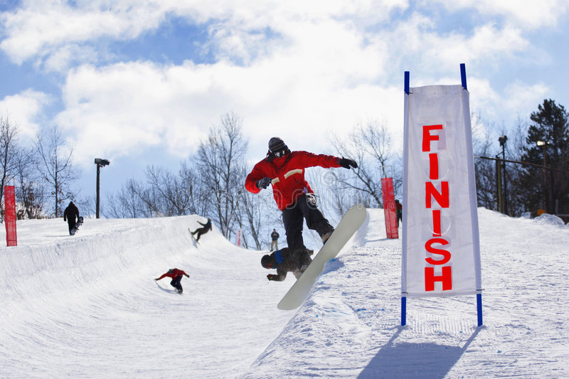 Download Halfpipe Competition stock photo. Image of snow, downhill - 4442018