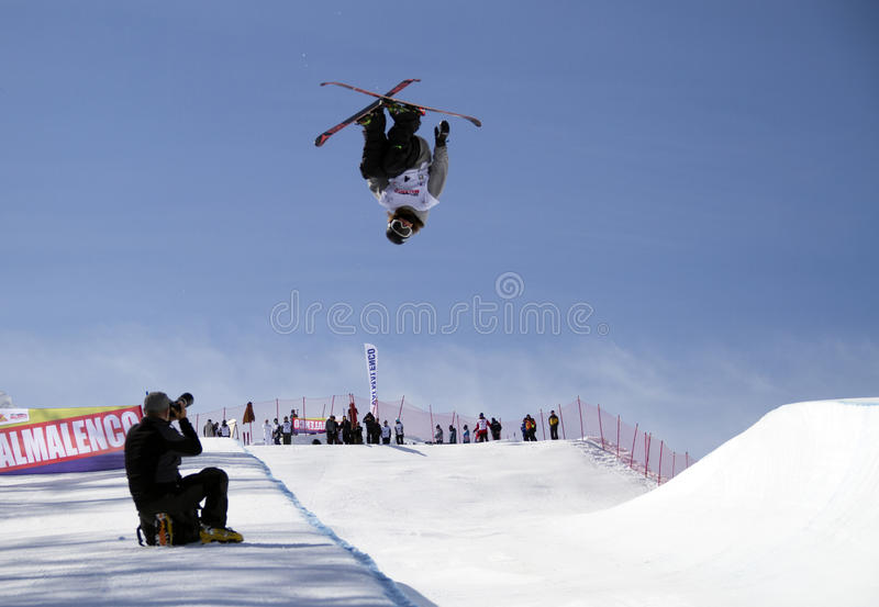 Halfpipe freestyle royalty free stock image