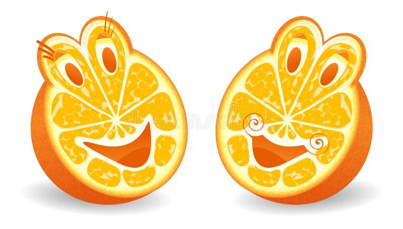 halfs πορτοκάλι δύο ελεύθερη απεικόνιση δικαιώματος