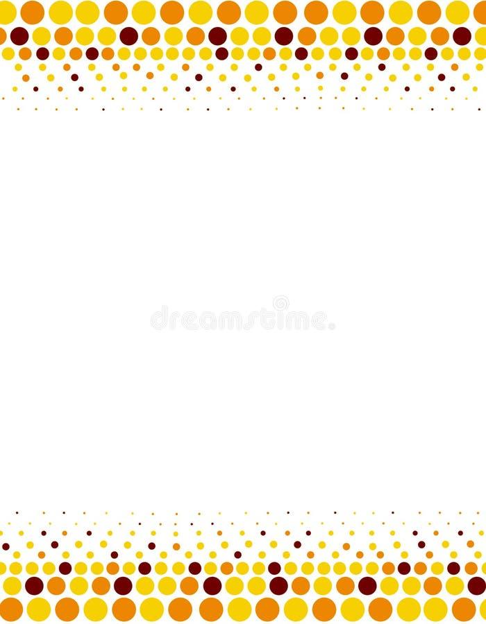 halftone граници бесплатная иллюстрация