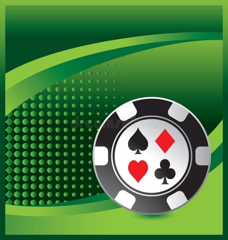 halftone зеленого цвета обломока казино рекламы иллюстрация вектора