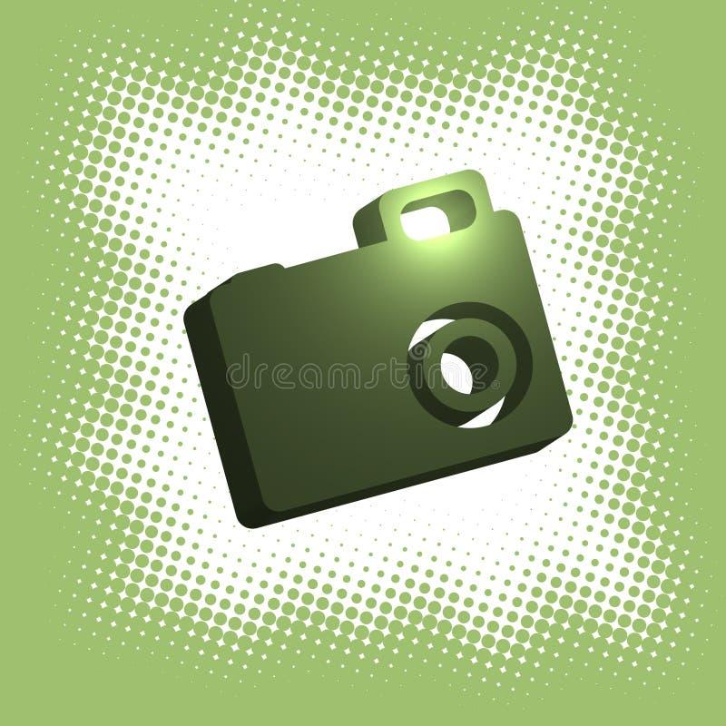 halftone камеры цифровой иллюстрация вектора
