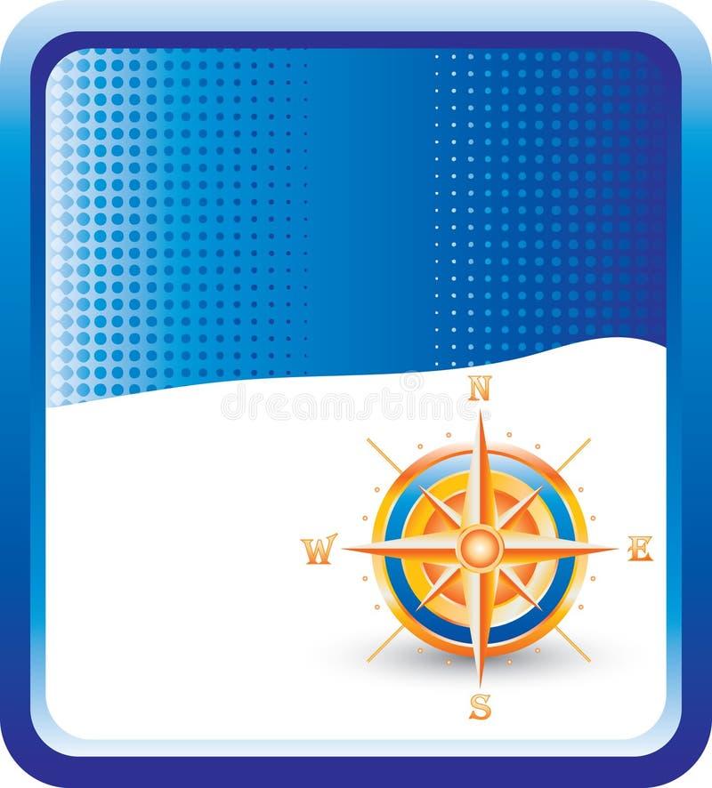 halftone компаса предпосылки голубой бесплатная иллюстрация