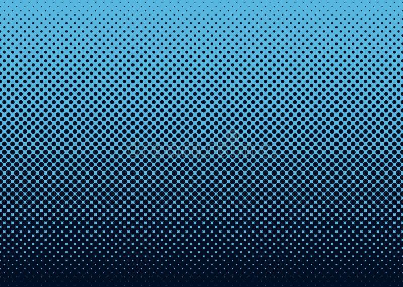 halftone сини предпосылки иллюстрация штока