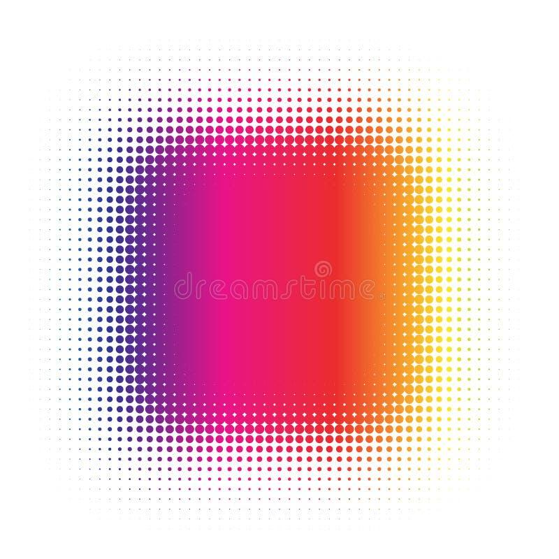 Halftone vector illustratie
