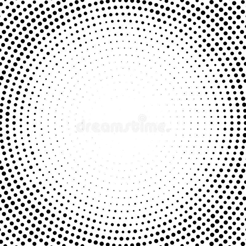 Halftone abstrakta kropkowani tła dla twój projekta Halftone skutka wektoru wz?r Okr?g kropki odizolowywa? na bia?ym tle royalty ilustracja