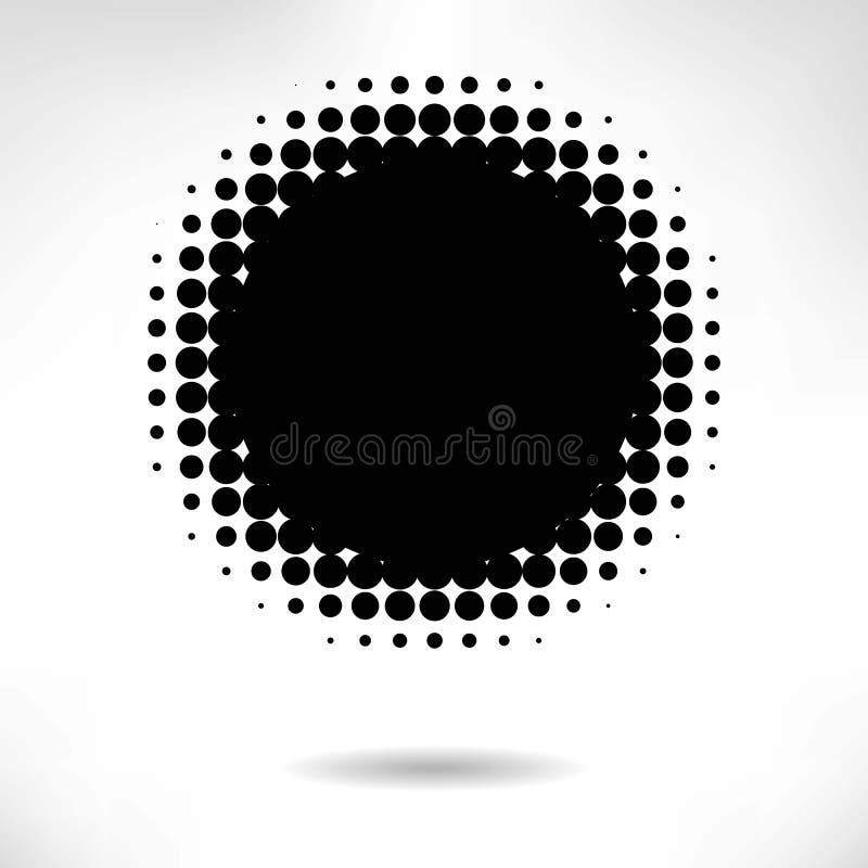 Halftone achtergrond stock illustratie