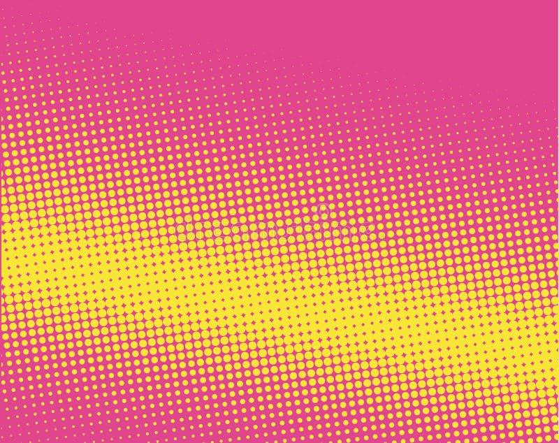 Halftone achtergrond Grappig gestippeld patroon Pop-art retro stijl vector illustratie
