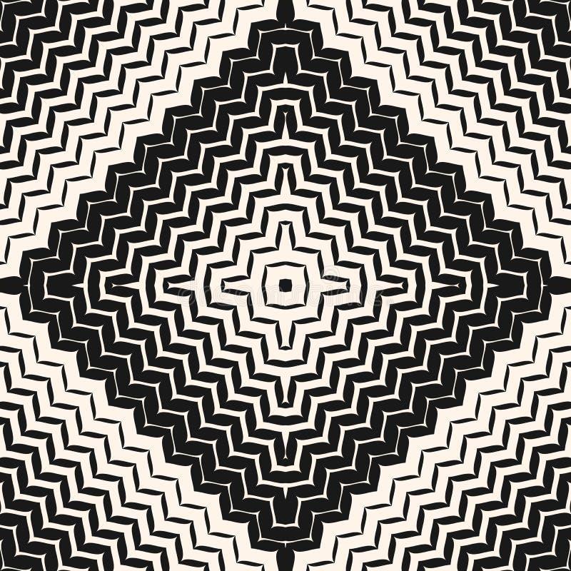 Halftone bezszwowy wzór Przekątna zygzag wykłada w kwadracie ilustracja wektor