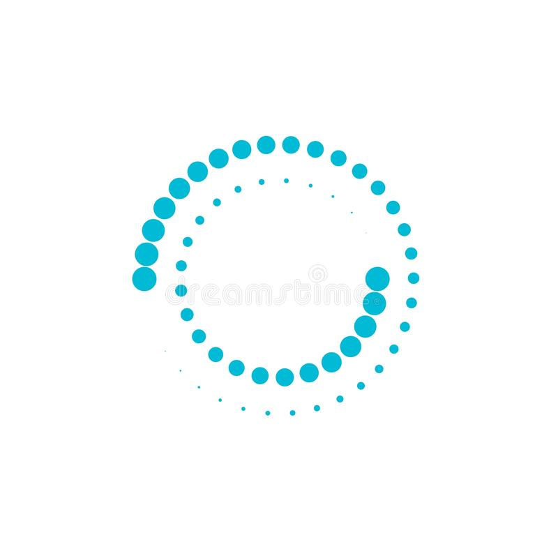 Halftone circle dots vector. Illustration design logo abstract icon dotted round circular science symbol graphic element shape modern background template art vector illustration