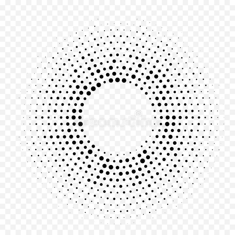 Circle halftone geometric dotted gradient pattern vector abstract white minimal texture background royalty free illustration