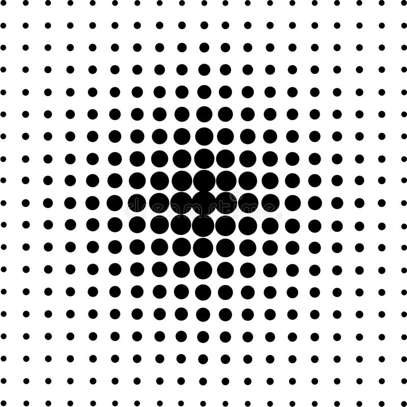 Halftone circles, halftone dot pattern. stock illustration