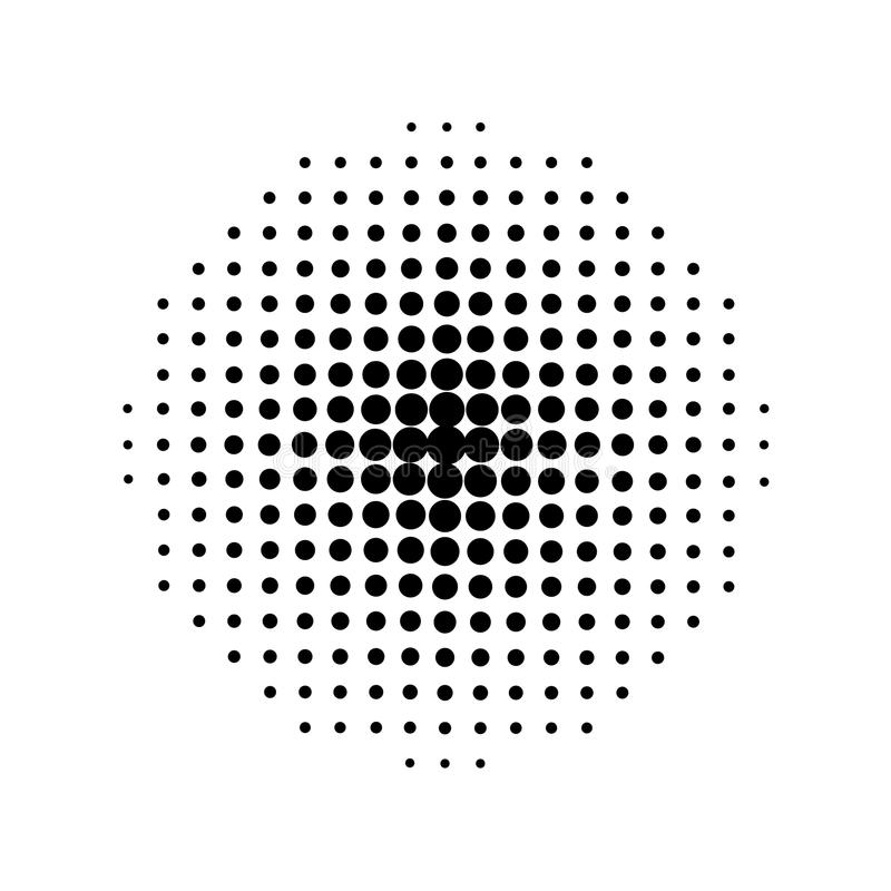 Halftone circles, halftone dot pattern. stock illustration