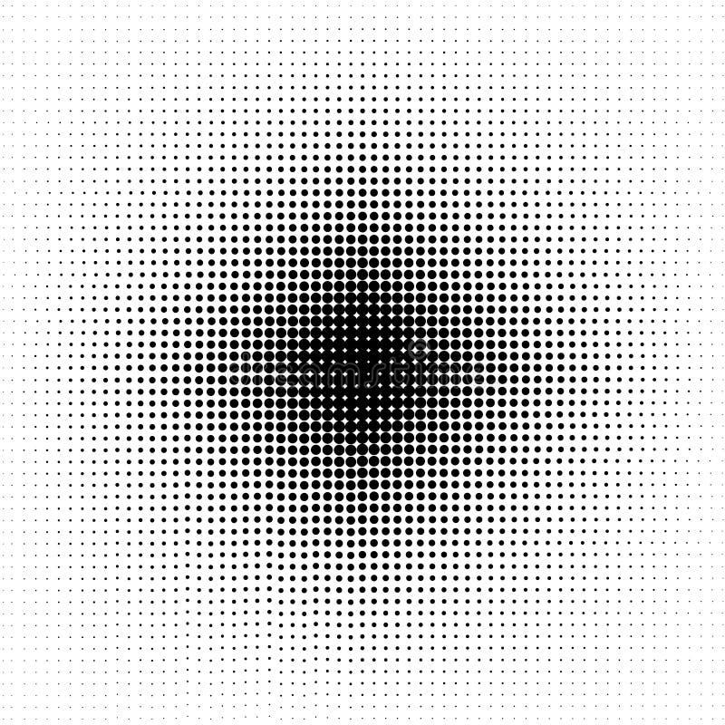 Halftone circles, halftone dot pattern. royalty free illustration