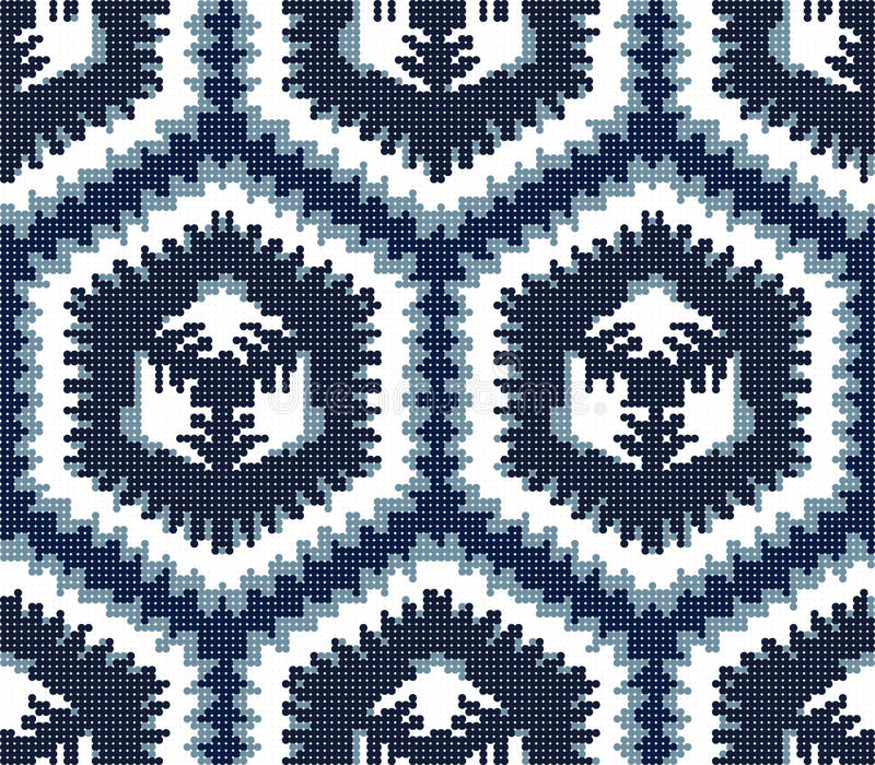 Halftone colorful seamless retro pattern blue sawtooth side. Polygon geometry can be used for both print and web page stock illustration