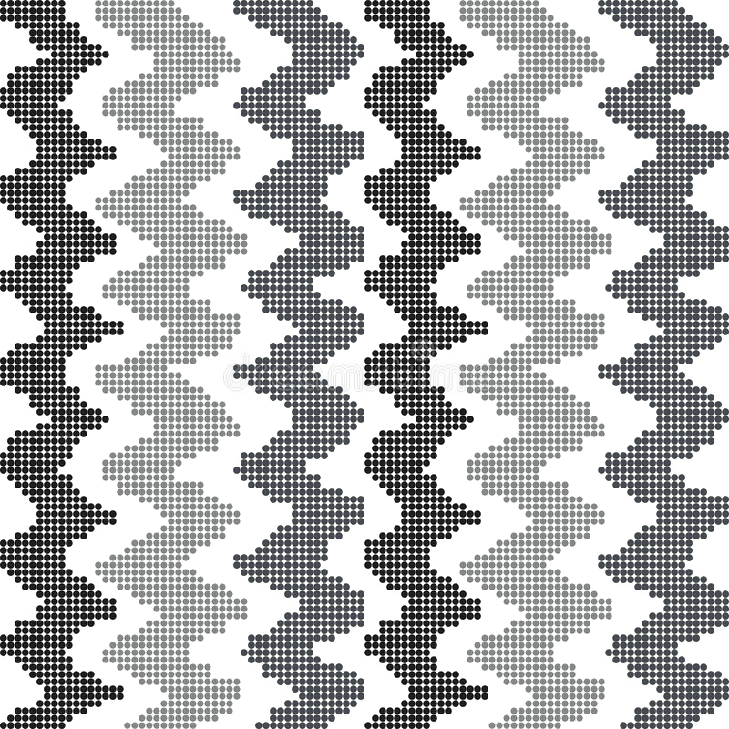 Halftone colorful seamless retro pattern grey tone sawtooth line. Can be used for both print and web page royalty free illustration