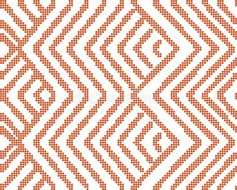 Halftone colorful seamless retro pattern oriental orange geometry check sawtooth cross line. Can be used for both print and web page stock illustration
