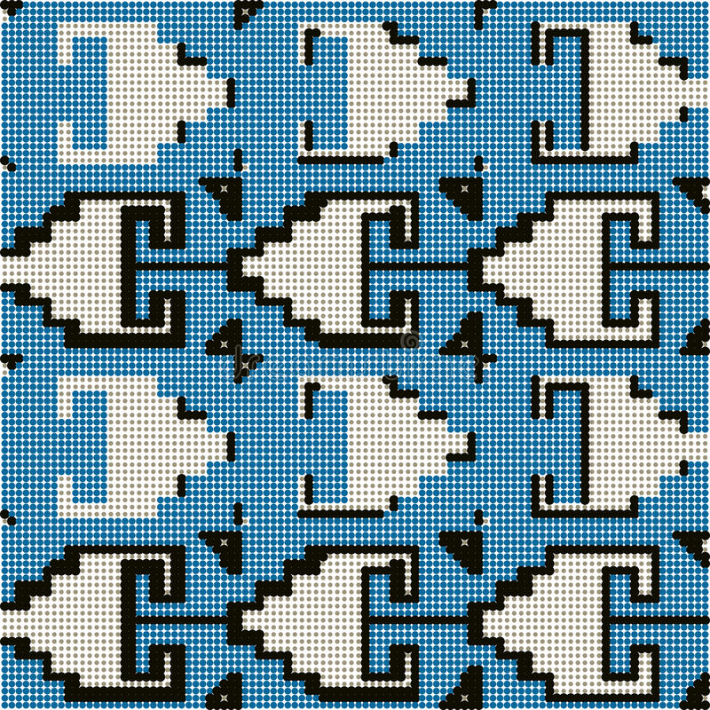 Halftone colorful seamless retro pattern sawtooth triangle. Geometry can be used for both print and web page vector illustration
