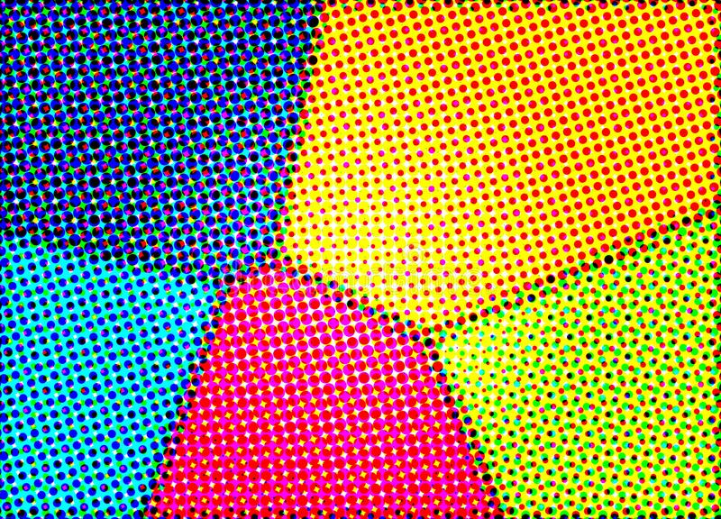 Halftone Colors Stock Images