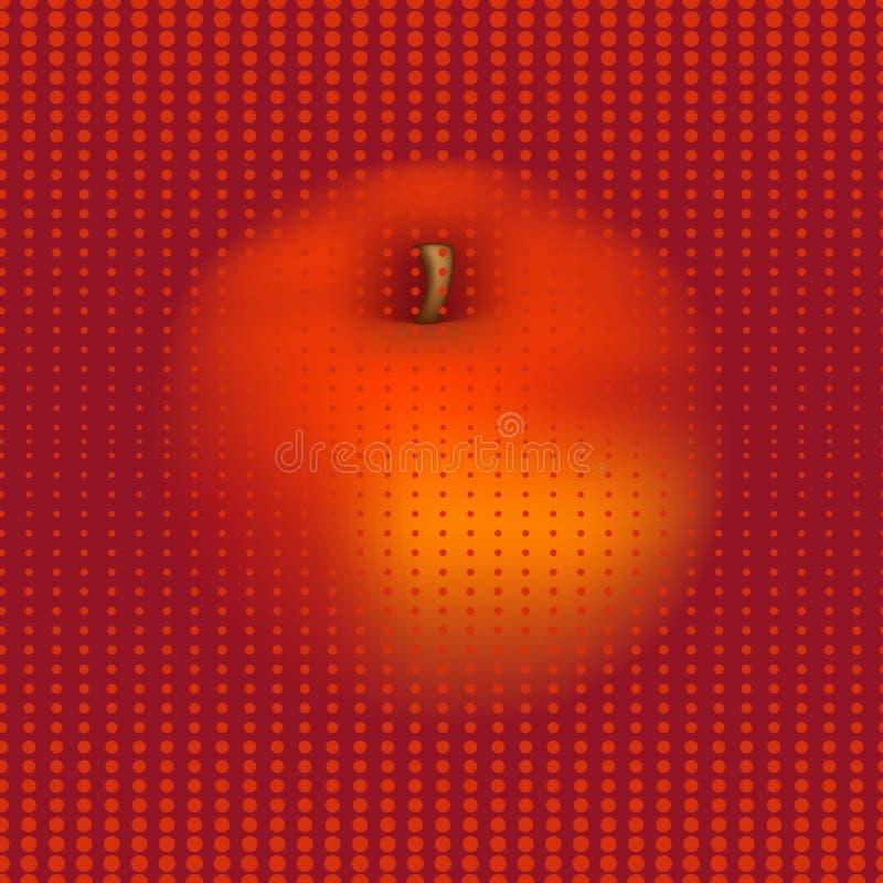 Halftone concept appel naadloze achtergrond royalty-vrije illustratie