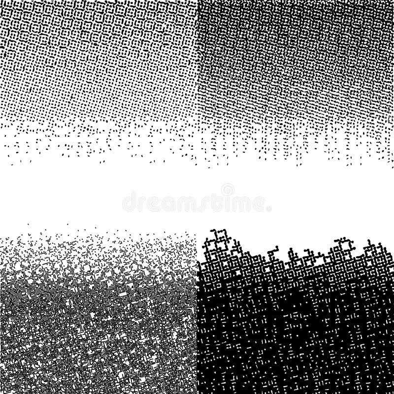 Halftone Czarne akwareli Digital granicy Wektorowi Ciemni tła abstrakcjonistyczna grunge tekstura ilustracja wektor