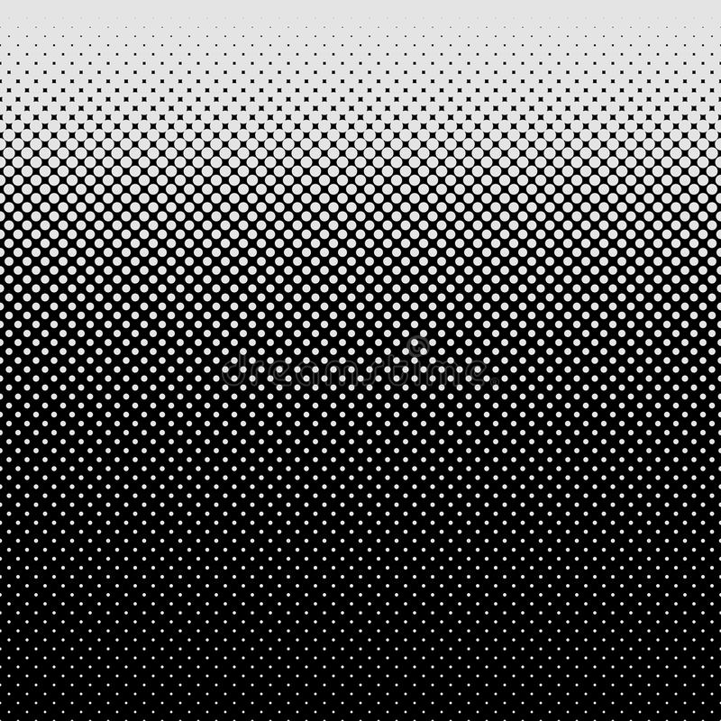 Halftone dot pattern background - vector graphic design from circles in varying sizes stock illustration
