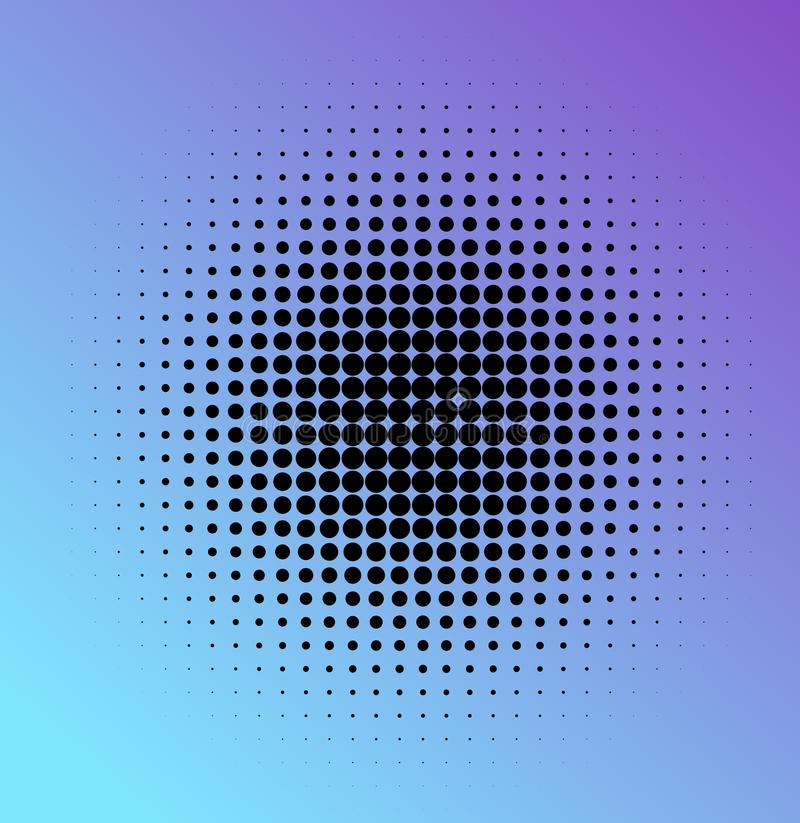 Halftone dots in circle. royalty free illustration