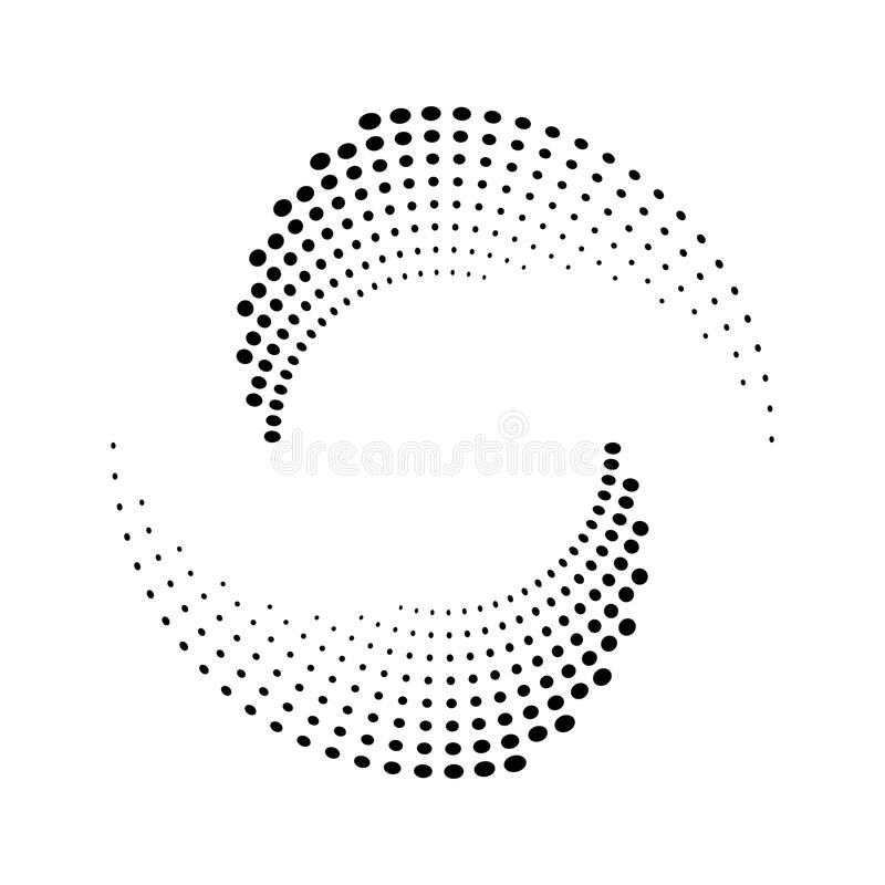 Halftone dots circle texture. stock illustration