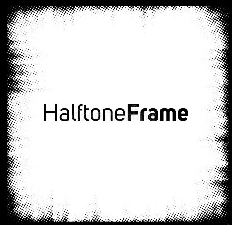 Halftone dots frame royalty free illustration