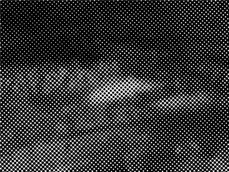 Halftone Dots Pattern . Distressed Background with Halftone Effects. Halftone Dots Pattern . Halftone Dotted Grunge Texture . Abstract Dots Overlay Texture stock illustration