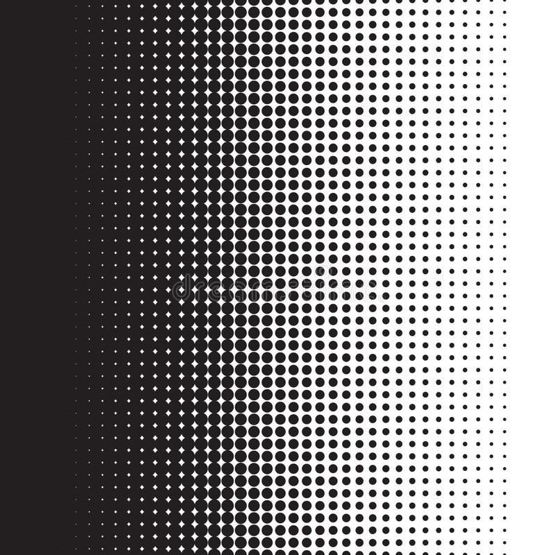 Halftone dots pattern gradient in vector format stock illustration