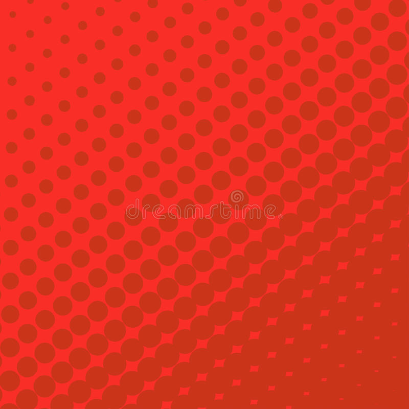 Halftone Dots On Red Background Stock Vector