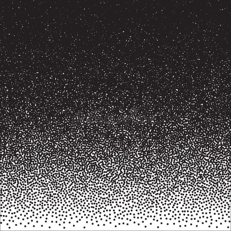 Halftone Dotwork-Vectorachtergrond van de Stijl Zwart-wit Gradiënt vector illustratie
