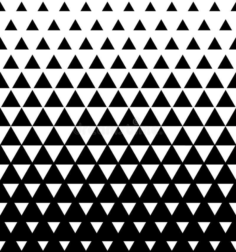 Halftone Driehoekige Patroonvector Abstracte Zwart-witte Geometrische Driehoek royalty-vrije illustratie