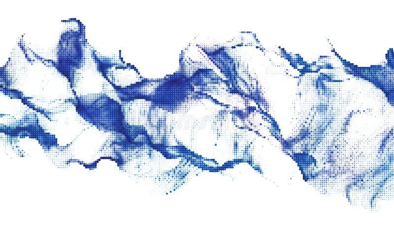Halftone dynamiczny tło ilustracji