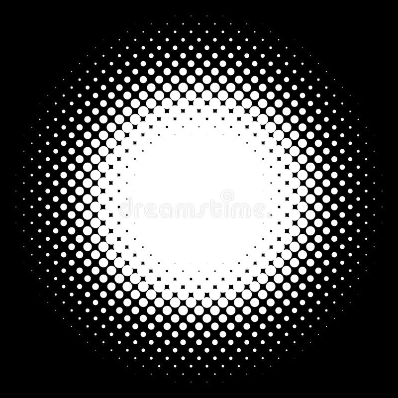 Halftone element. Abstract geometric graphic with half-tone pattern. Royalty free vector illustration royalty free illustration