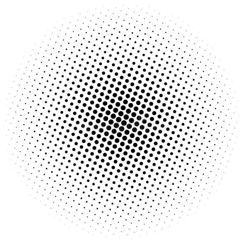 Halftone element. Abstract geometric graphic with half-tone pattern. Royalty free vector illustration vector illustration