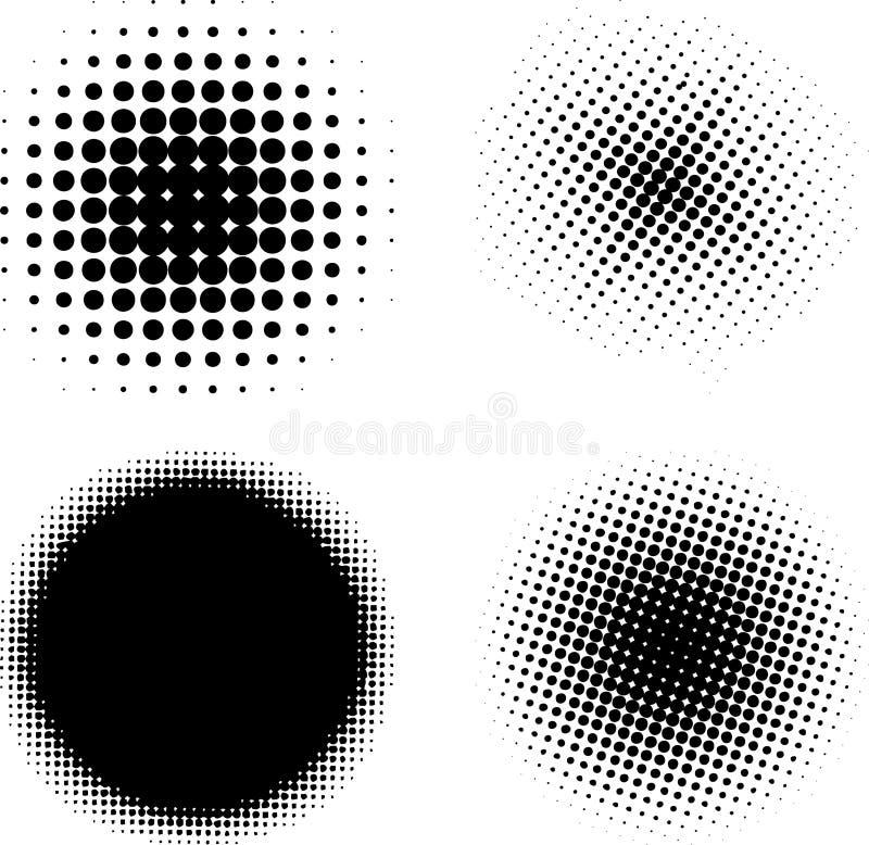 Halftone elementenVECTOR vector illustratie