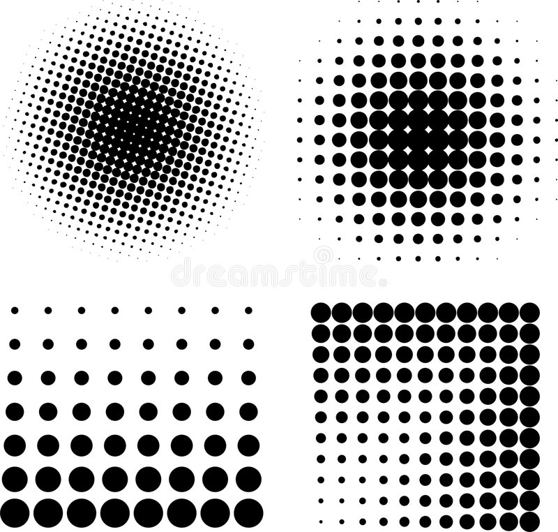 Free Halftone Elements VECTOR Stock Photography - 8086022