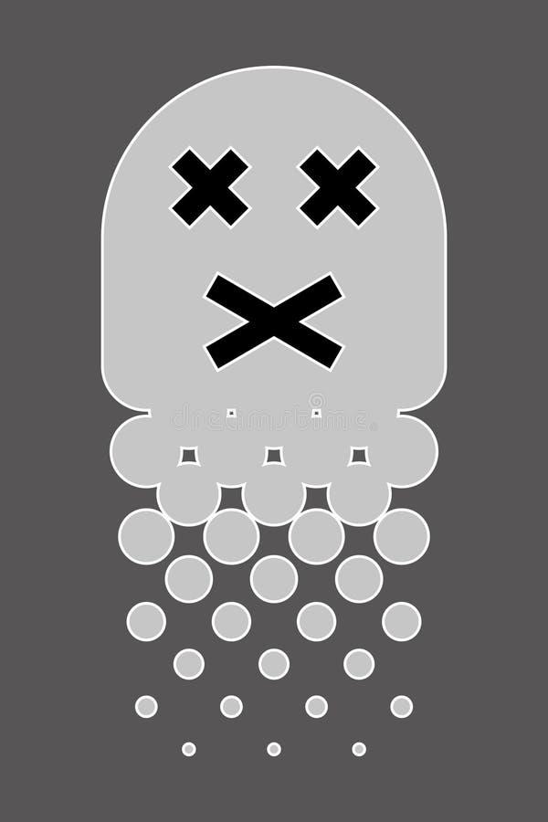 Halftone Emoji stock illustratie