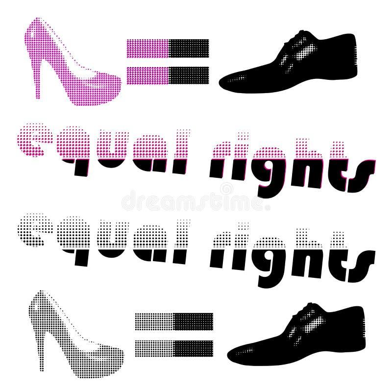 Halftone_ equal_rights 皇族释放例证