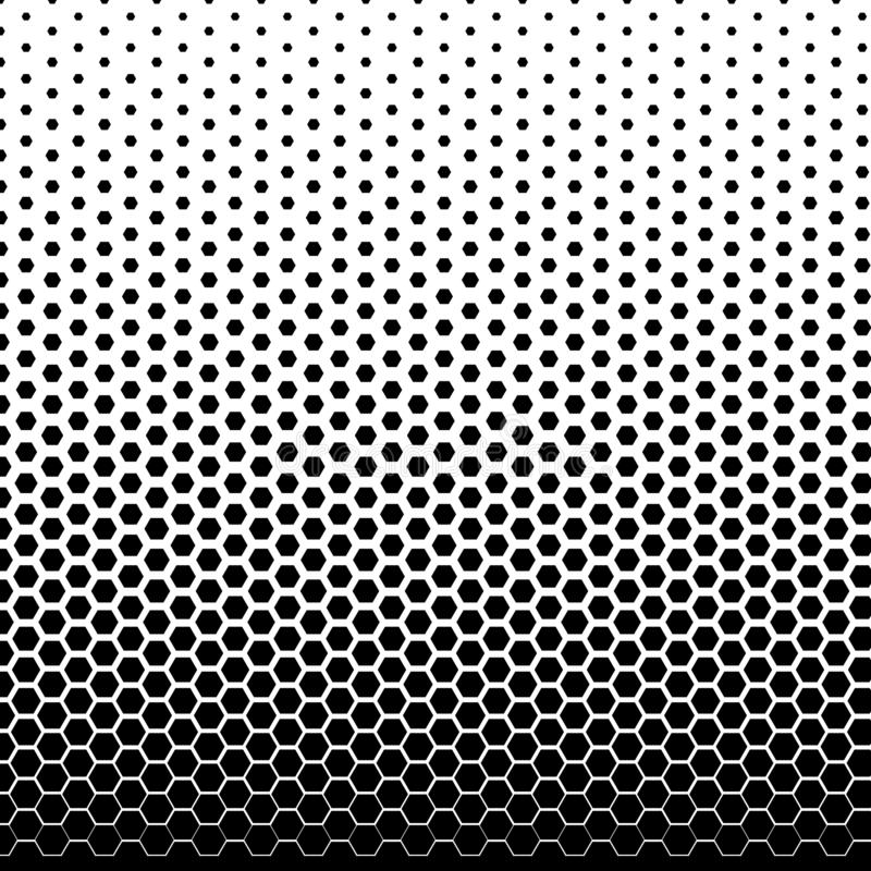 Halftone fade gradient background. Black and white comic backdrop. Monochrome points vector royalty free illustration