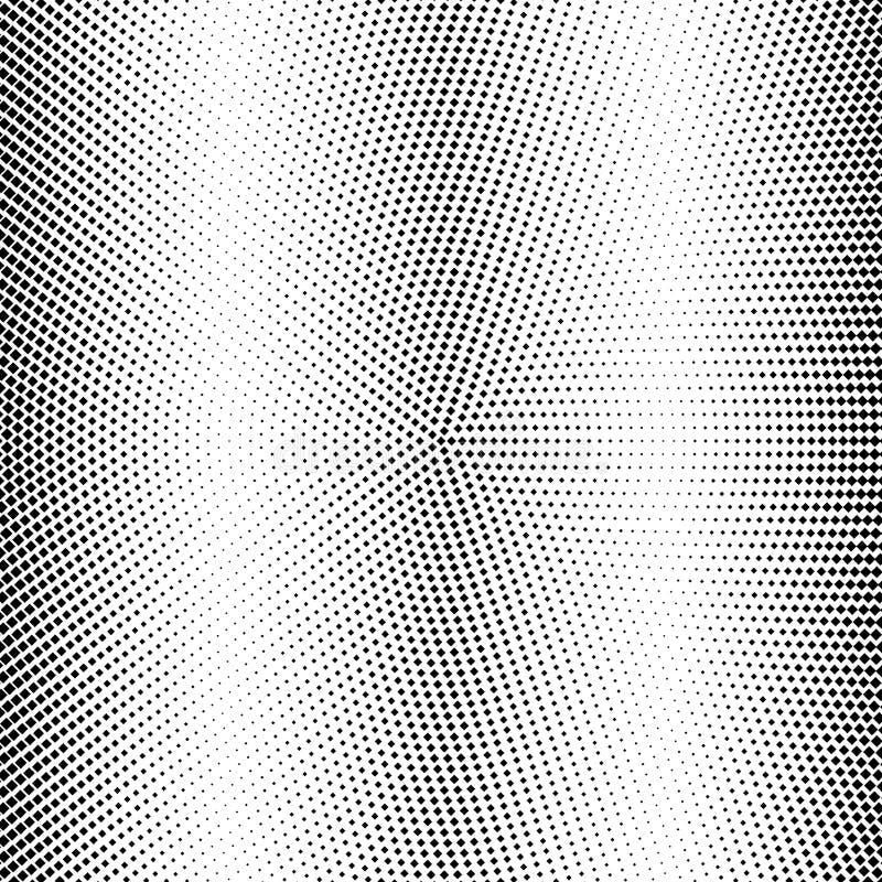 halftone Fondo abstracto de la pendiente de casillas negras Ilustraci?n del vector stock de ilustración