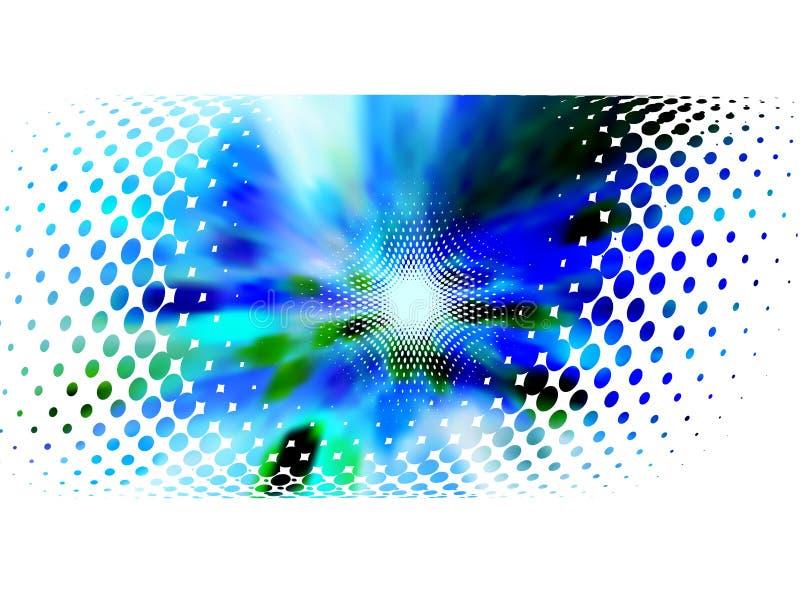 Halftone frame, vectormotieonduidelijk beeld stock illustratie