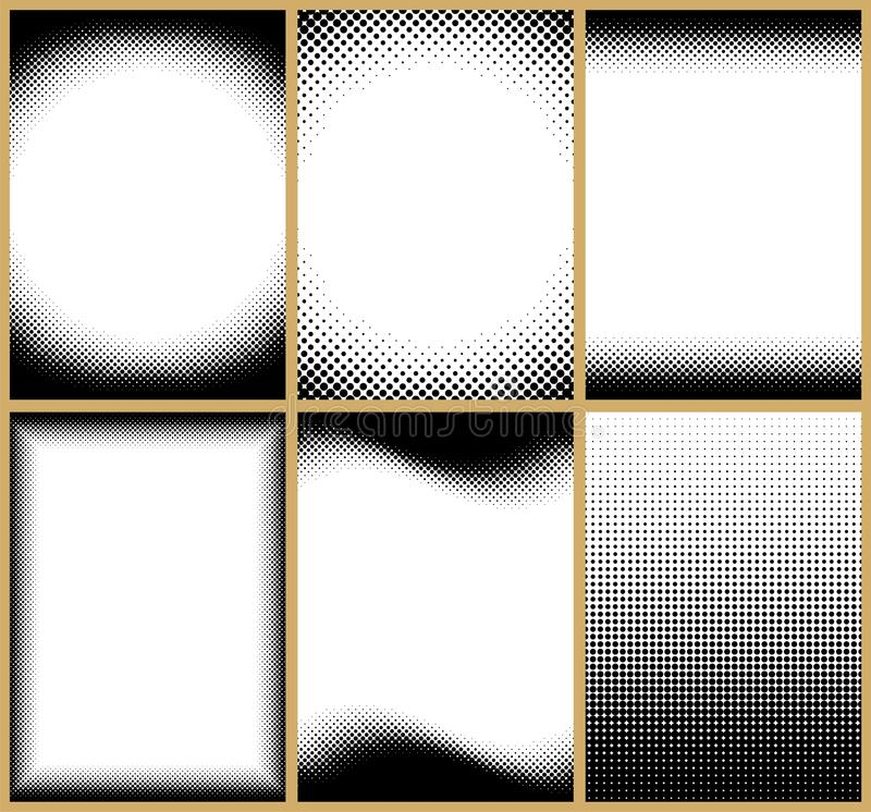 Download Halftone Frames stock vector. Image of frame, clip, space - 21131876