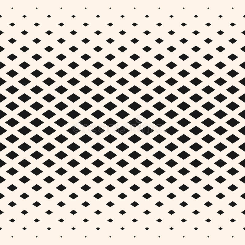 Halftone geometric pattern, diamond shapes, crystals, rhombuses vector illustration